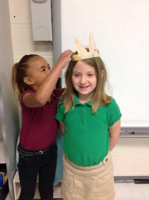 Crowned for excellent coloring by Britni, the crown creator.