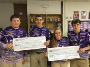Dillion B,Caleb C,Ashleigh C,Anthony E.  27th and 41st place out 470 teams!  2/6/16 tournament  15.01lbs and 14.24lbs