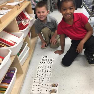 Counting patterns on number lines.