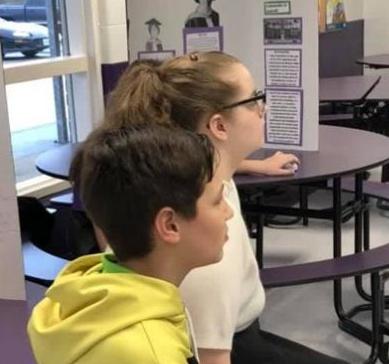 Students at Black History Program