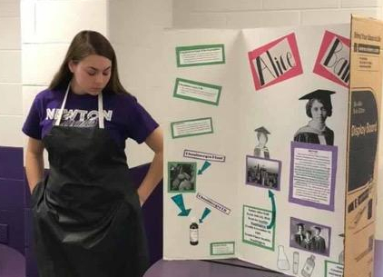 Student with Black History Project