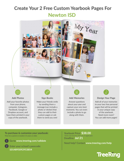 Order your yearbook now and create 2 custom pages.