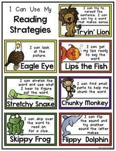 We practice our word strategies.