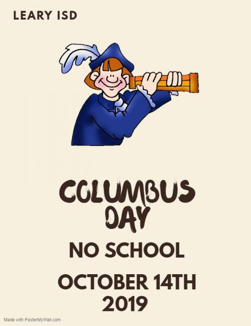 Columbus Day October 14th