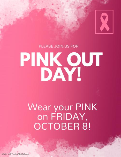 Pinkout Day October 8th