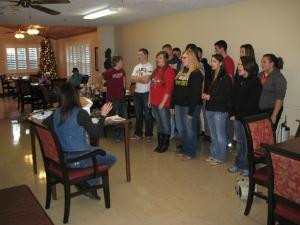 Singing at Peachtree Assisted Living