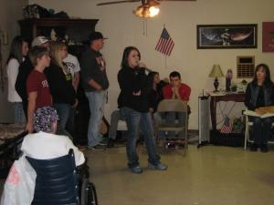 Singing at Rich Mountain Nursing Home