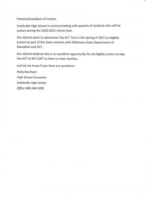 Jr. ACT Notification