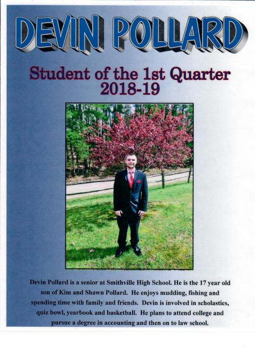 Student of the First Quarter