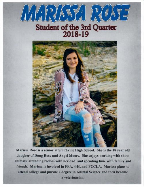 Student of the Third Quarter