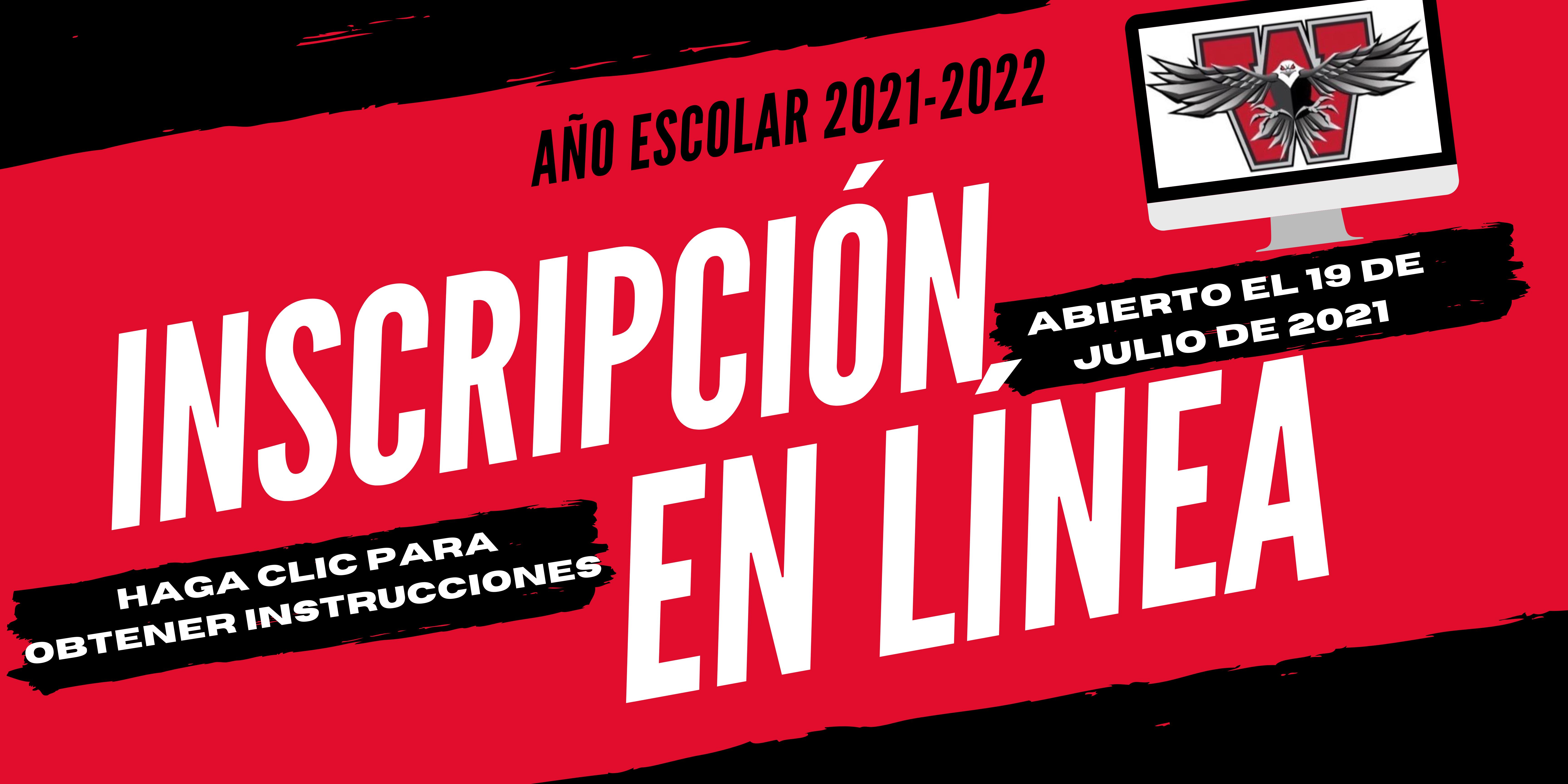 Instrucciones de inscripción en línea - Español