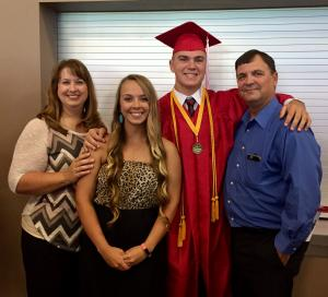 Family pic at Blake's graduation