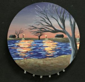 Landscape in acrylic by Hanna D.