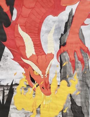 Dragon in acrylic by Mackenzie C.