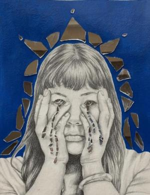 Eye of the Beholder, mixed media, by Lakin Green