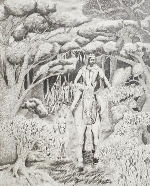 Graphite piece by Mike H.