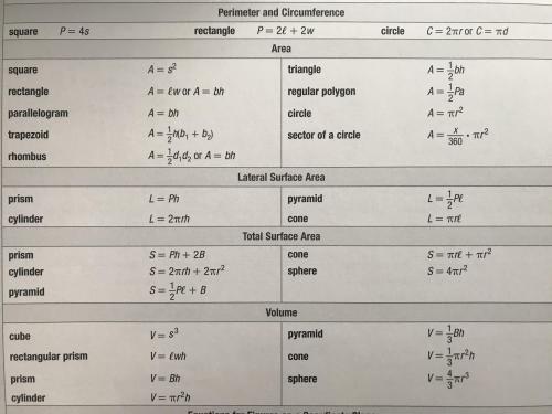 Formula Sheet