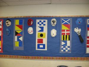 Signal Flags and Guaze Masks