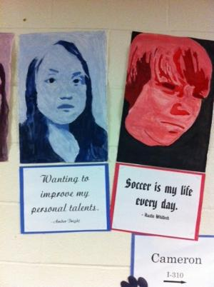 Warhol Style Self Portraits and Six Word Memoirs