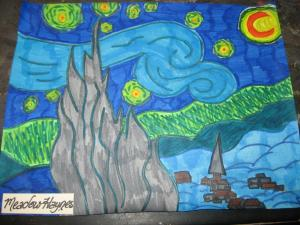 Famous Works studies - Starry Night