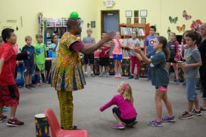 Third Grade Music Class with guest clinician, Dr. Kofi Gbolonyo
