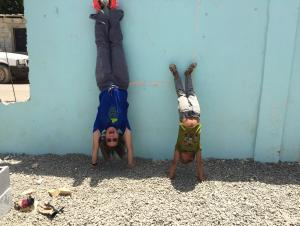 It is always the perfect time to have a little fun!  This is my friend, Jose, and I in a school yard in the Dominican Republic.