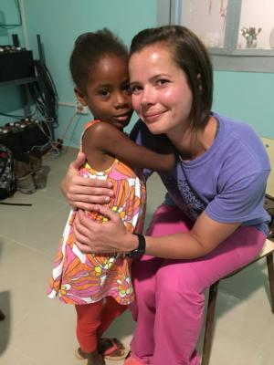 During a mission trip to the Dominican Republic, I met one of my sponsor children, Slairy.