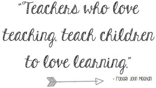 Teacher's who love teaching...