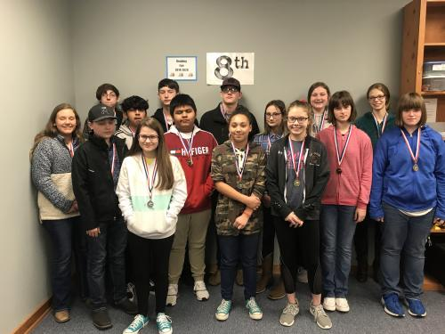 Pictured – NOT IN ANY ORDER:  FICTION: 1ST LANDREY RICHARDSON & MADELYN DIXON, CRHS; 2ND LYNIYA TREADWAY & ELLA ENGLEKE, CRHS  NONFICTION: 1ST FALISHA HARRIS & MADISON FRACHISEUR, CRHS; 2ND JUSTIN BELL & JOHNNIE FRACHISEUR, CRHS; 3RD BAYLEE CARTER, DIER