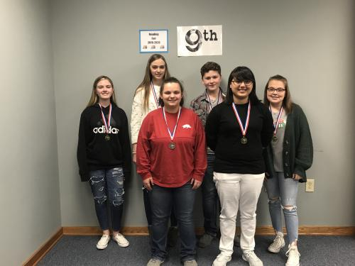 Pictured – NOT IN ANY ORDER:  FICTION: 1ST ADDI WOOD & OLIVIA MAECHLER, MENA  NONFICTION: 1ST JENNA BRAY, DIERKS; OLIVIANA ORTIZ, MENA  TECHNOLOGY: 1ST KIRSTEN GEE &KRISTIAN PELLEGRINO, MENA