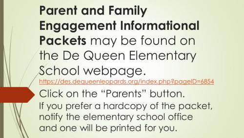 parent info packet