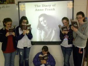 8th graders & The Diary of Anne Frank