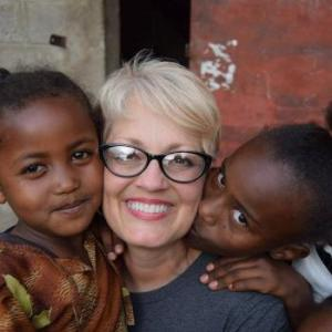 Me in Ethiopia loving on some sweet children!