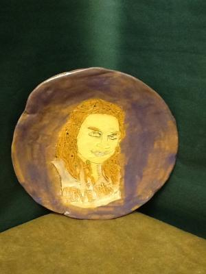 self portrait plate