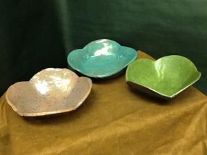 template bowls, handbuilt