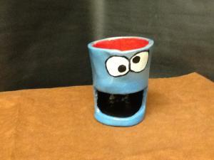 cookie moster mug (with a cookie holder built in)