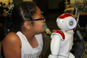 Nao Robot meets a new friend