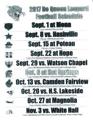 Football schedule 2017