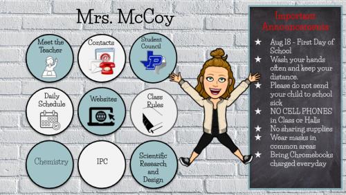Mrs. McCoy's Bitmoji Classroom