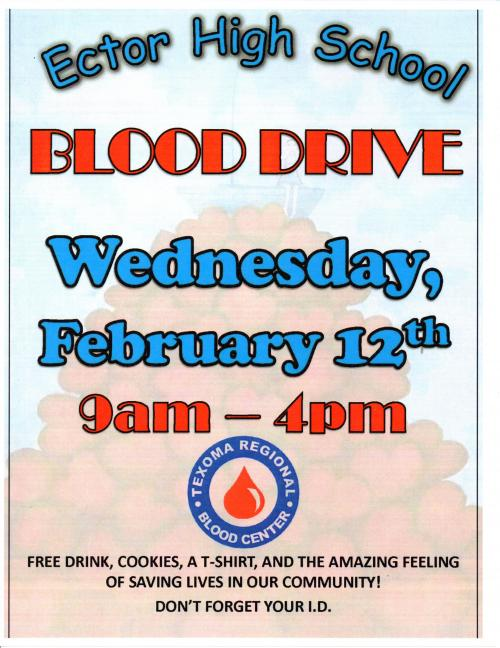 Blood Drive February 12, 2020