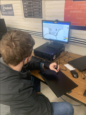EAST student using our new graphics tablet!