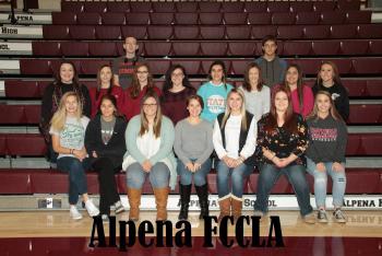 Alpena FCCLA members 2017-2018