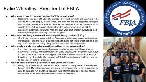 Katie Wheatley - FBLA President