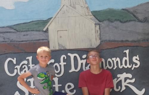We enjoyed mining diamonds in Murphysboro, Ar this summer.
