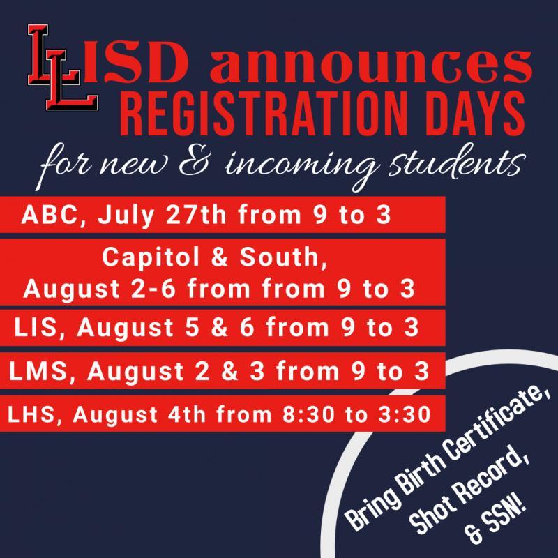 New Student Registrations Set