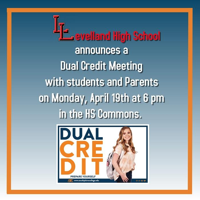Dual Credit Meeting Set