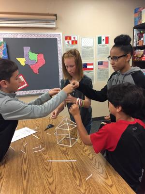 Students create structures using rules of various gov.