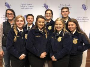 2018 Ag Issues LDE team competing at Area 9 LDE contest at SFA- winning 6th in Area.
