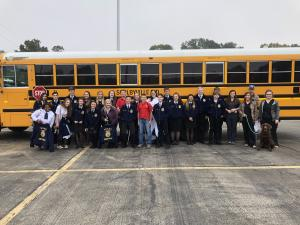 2018 Shelbyville FFA LDE teams competing at Pineywoods District LDE Contest at SFA