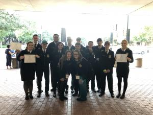 Harley Hinton, Jordan Williams, and Lexi Berry awarded their Lonestar Degree at Ft. Worth at the 91st Texas FFA State Convention